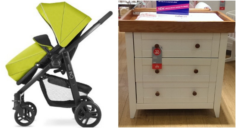 Graco Evo pram and changing table