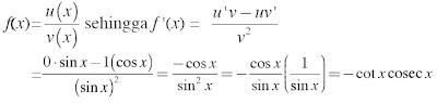 f(x) = cosec x