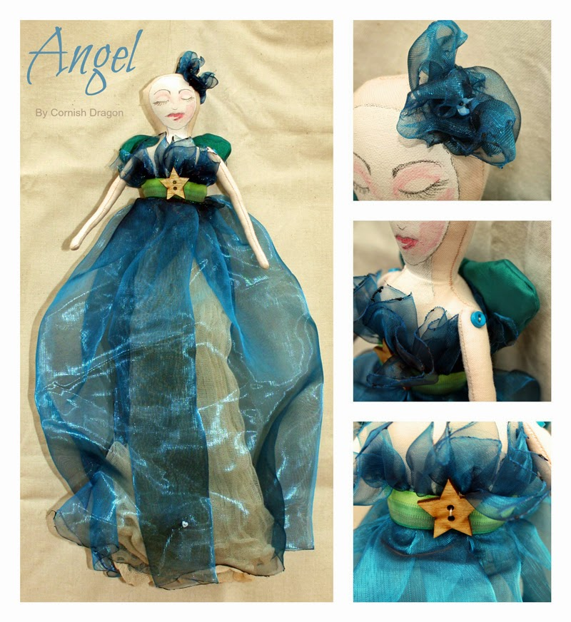 cloth art angel dolls