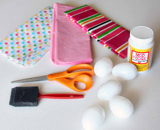 Supplies for Tissue Paper-Covered Easter Eggs by SweeterThanSweets