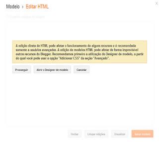 dicas blogger blogspot alterar html
