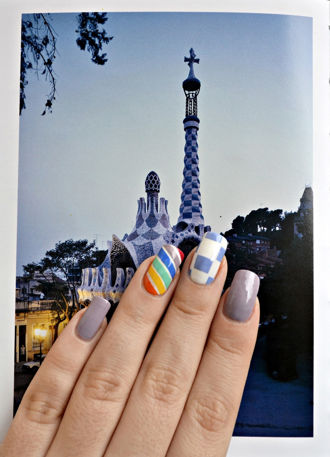 Manicure inspired by Barcelona
