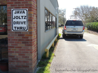 Fearless Finds: Java Joltz-- A cool and creative coffee joint with quirky flavors, a charming atmosphere, and a sweet staff in Jennings, Louisiana | bonveillercher.blogspot.com