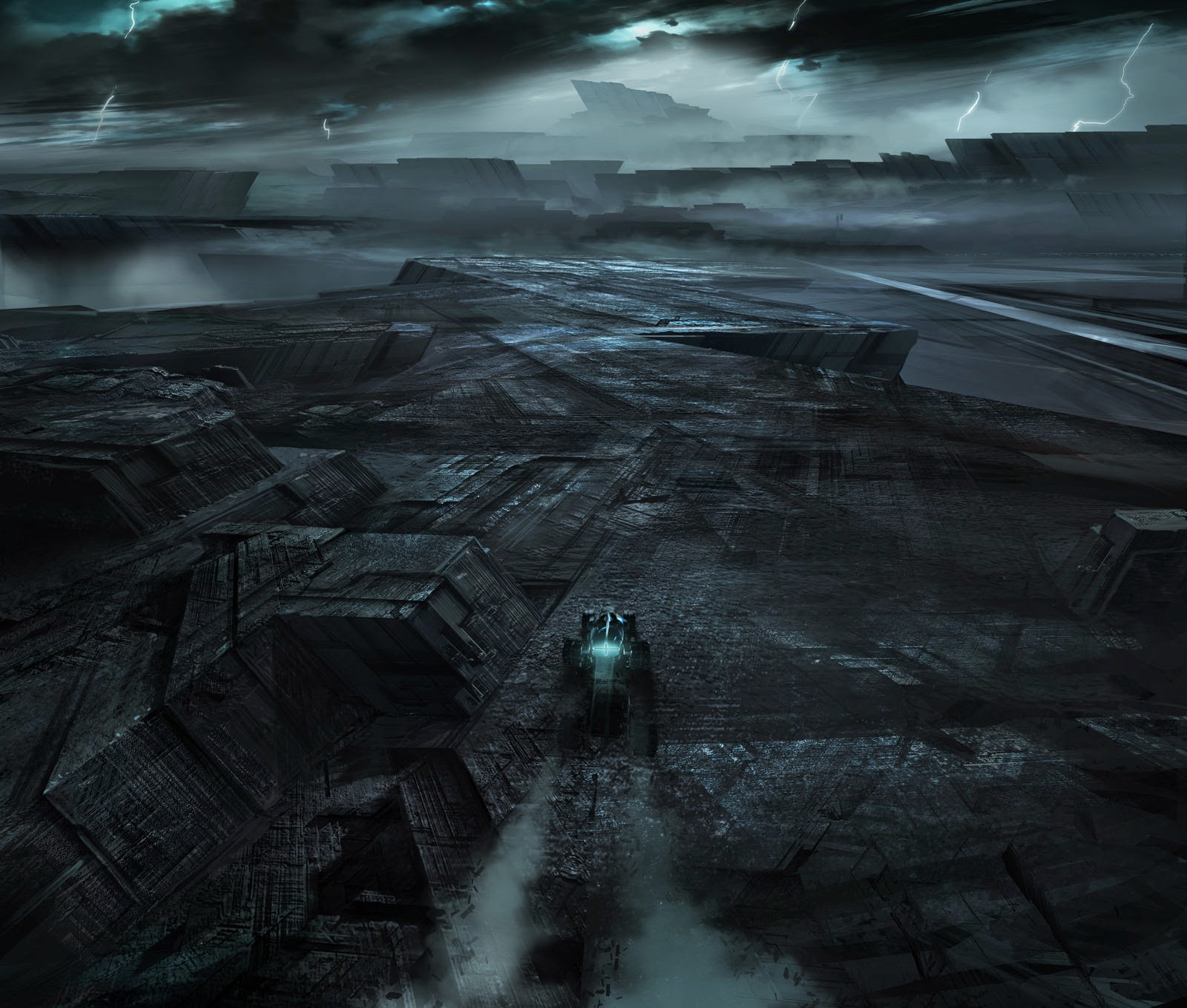 Brilliant tron legacy concept art by david vyle levy for Legacy house