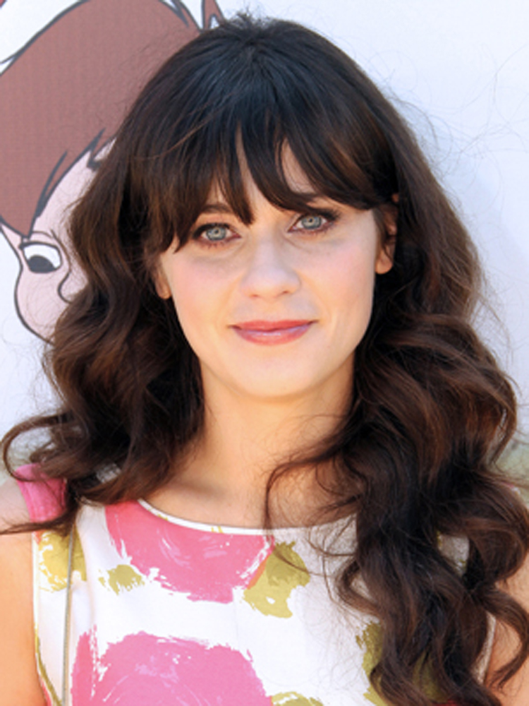 Zooey Deschanel Brunette Hairstyles