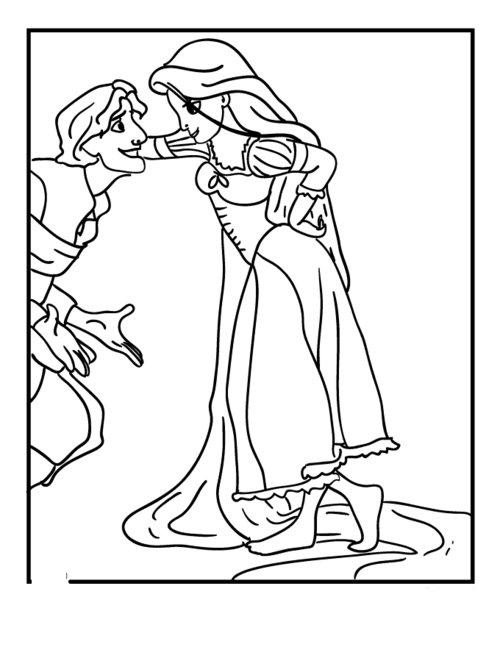 tangled poster coloring pages - photo#26