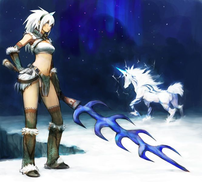 Monster Hunter Freedom 2 female kirin armor