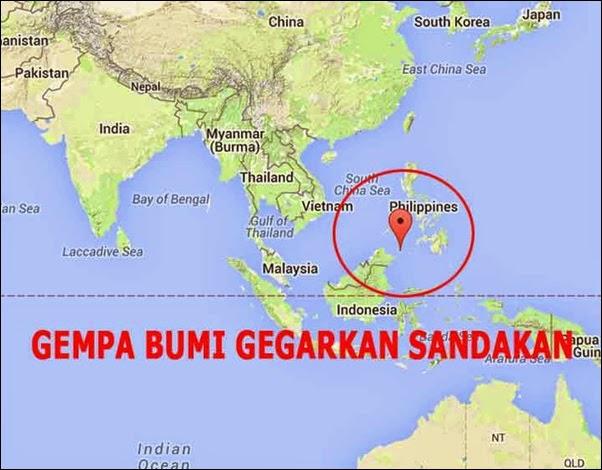 Gempa Bumi Di Sabah Punca Dari Dasar Laut Sulu