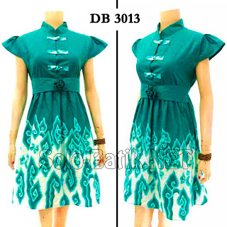 DB3013 - Model Baju Dress Batik Tulis Modern Terbaru 2013