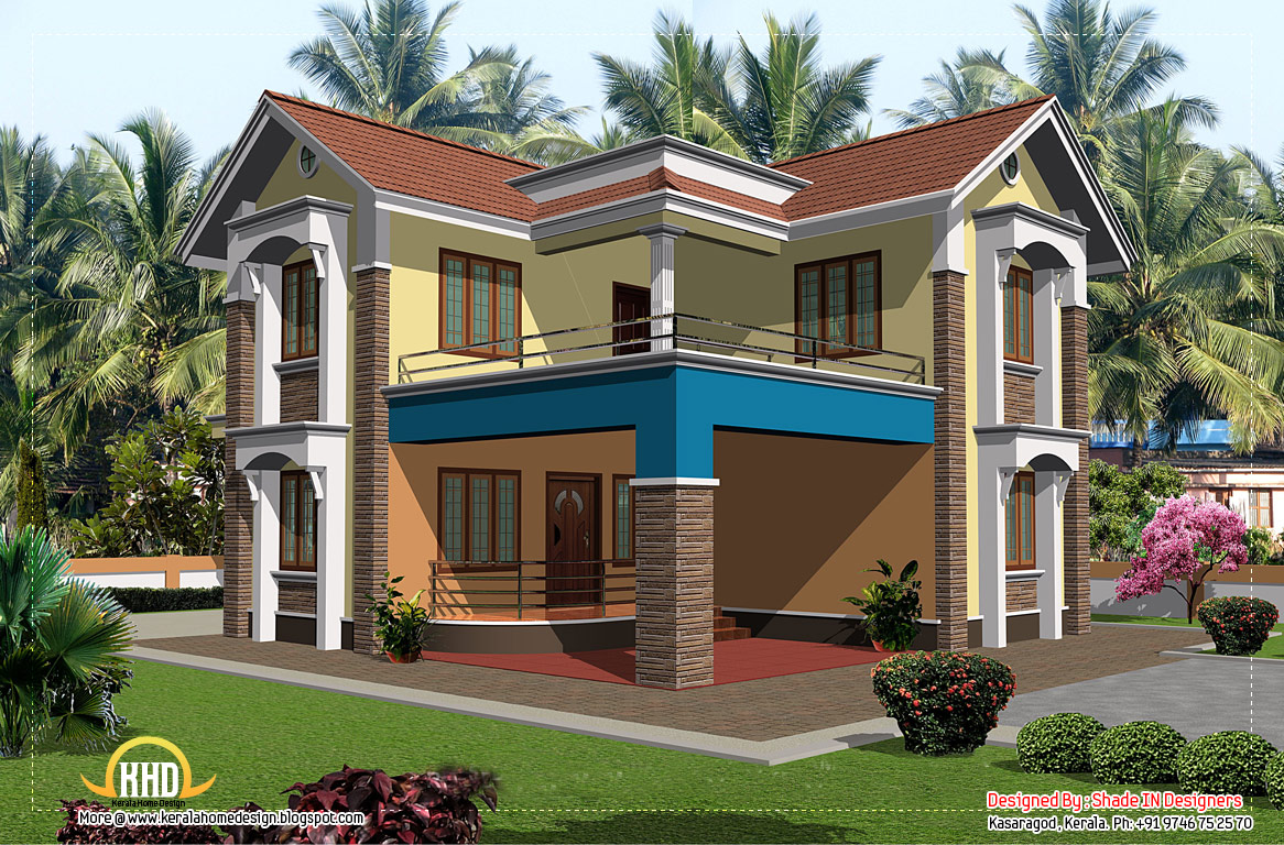 2 story kerala home design 2080 sq ft home appliance for Two storey house design with floor plan with elevation