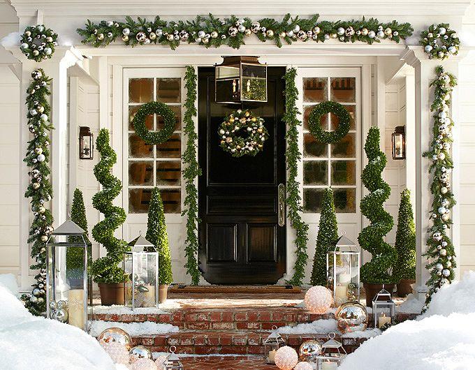 barn front doorTweak  Style Blog 12 Festive Front Door looks for the Holidays