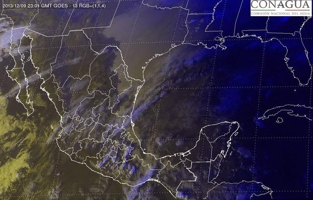 Interacción de frente frío 17 con baja presión provocaría lluvias a partir del miércoles