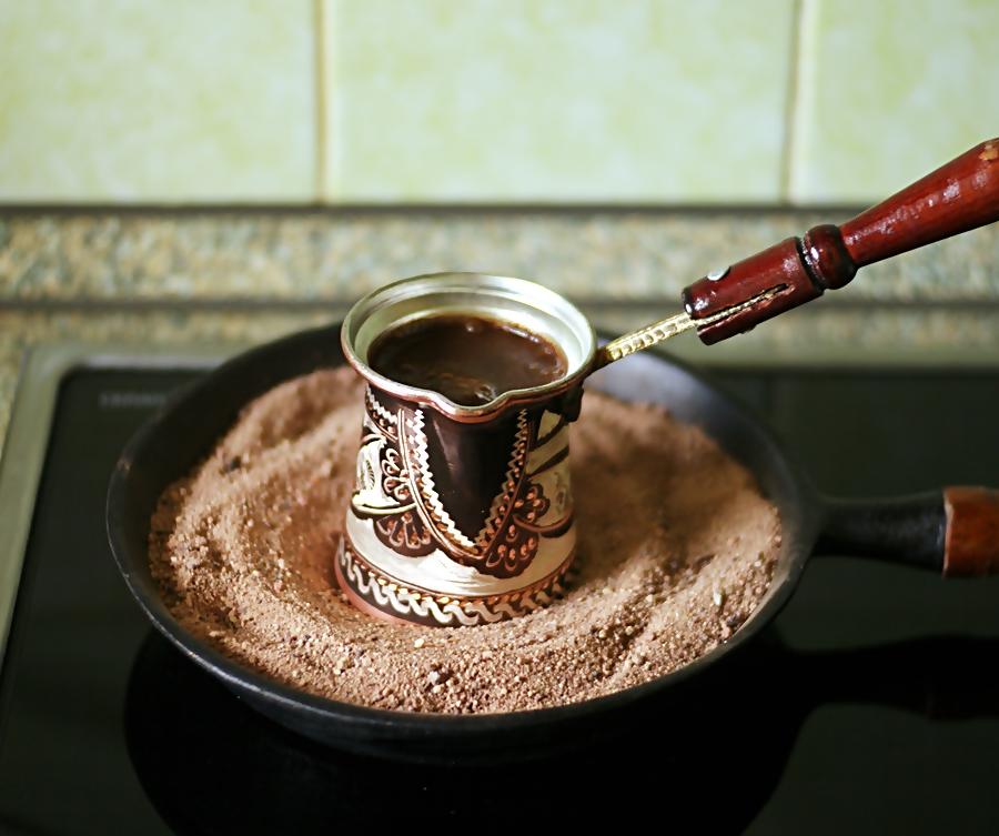 как приготовить кофе на песке дома