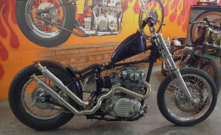 Vosen's XS650 im Triumph Starrahmen