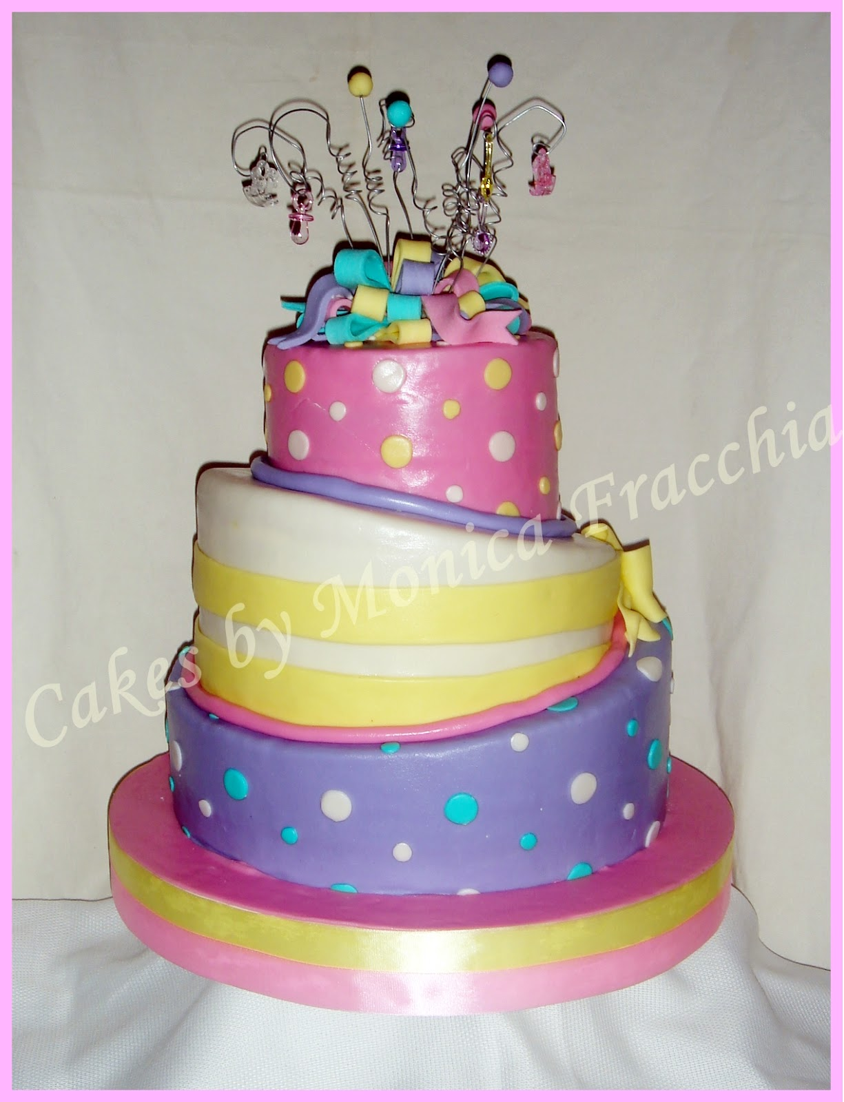 TORTA DECORADA PARA BABY SHOWER DE NIÑA | TORTAS CAKES BY MONICA ...