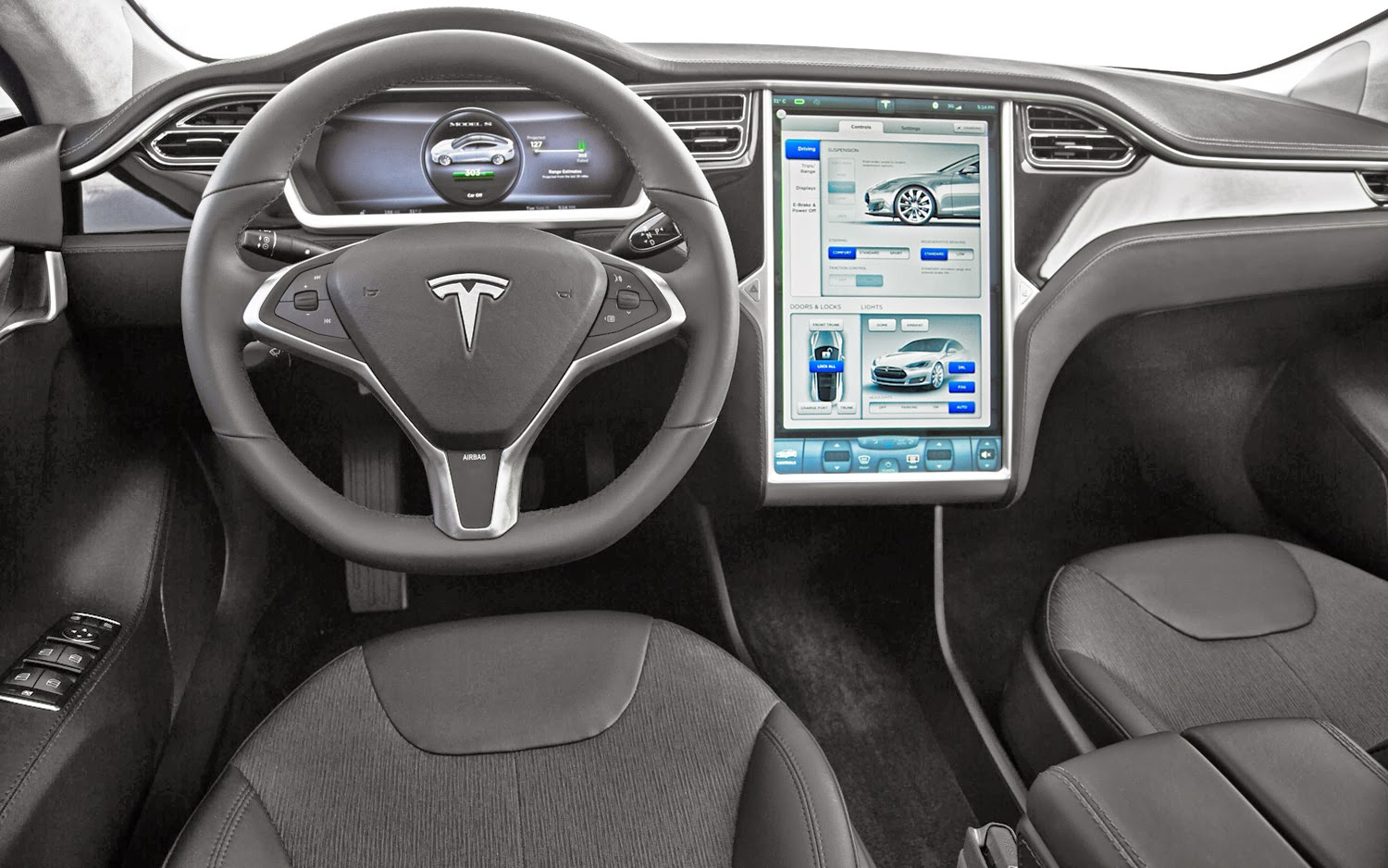 New car models september 2013 for Interior tesla model s