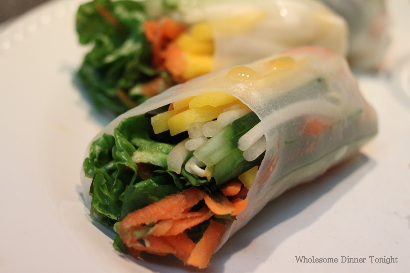 Wholesome Dinner Tonight: Vegetable Spring Rolls {Gluten Free}