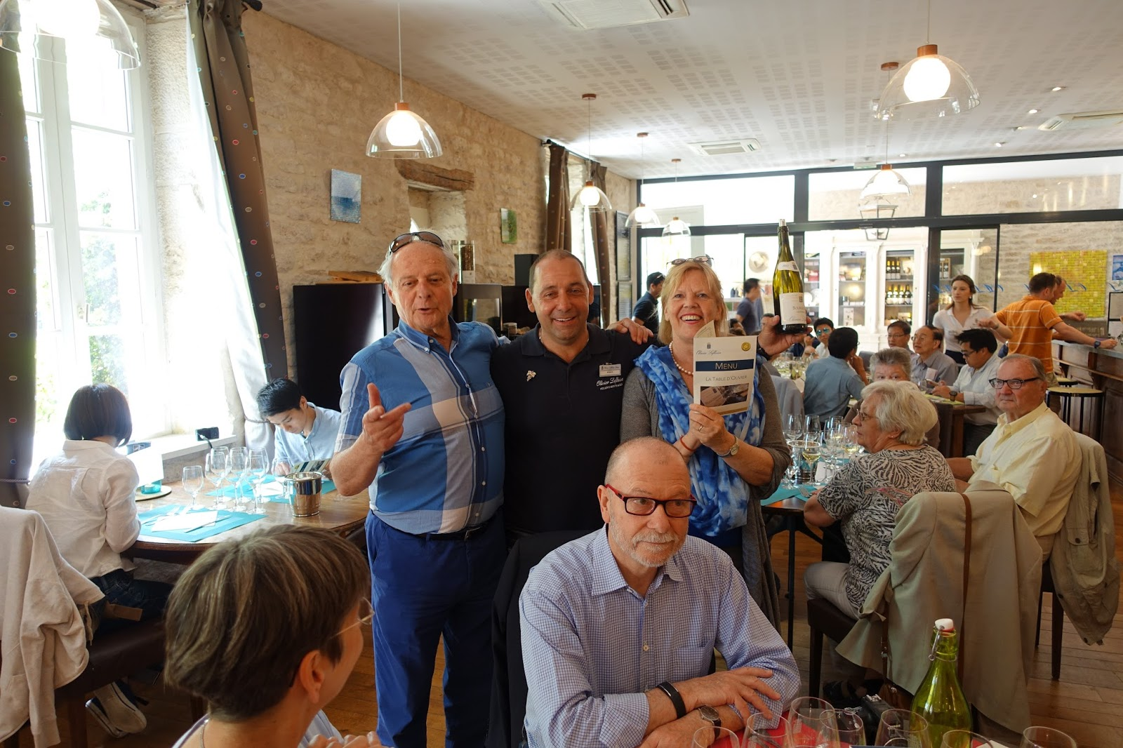 Schiller wine lunch and winetasting at la table de - La table d olivier leflaive puligny montrachet ...
