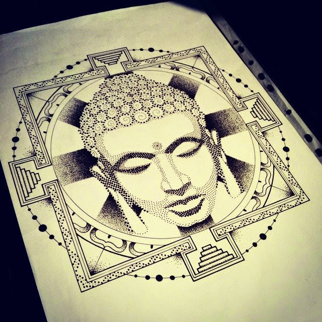 Buddha-Zentangle