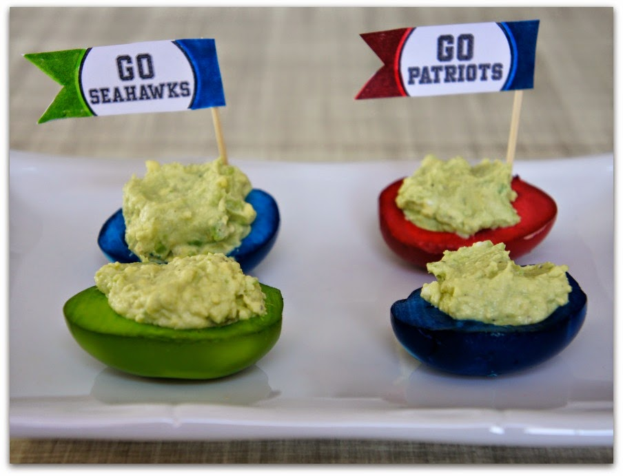 Seattle Seahawks versus the Patriots...deviled egg style!