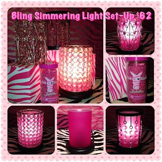 Pink Zebra Bling Simmering Light Image