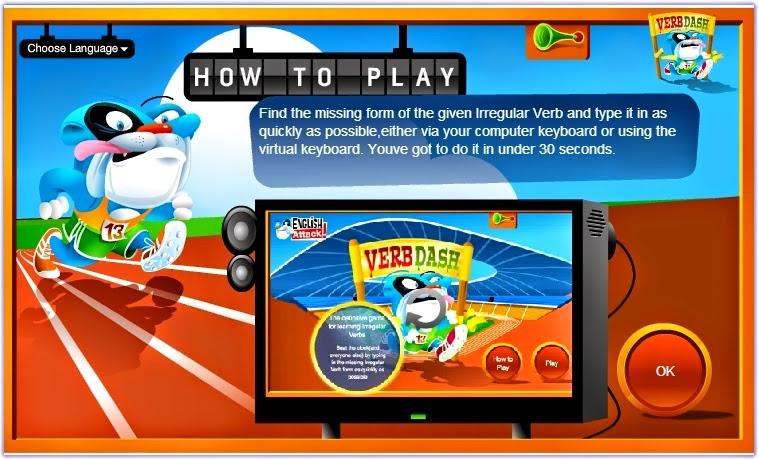http://games.wordreference.com/language-games/verb-dash