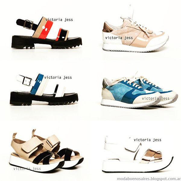 Moda primavera verano 2016 zapatos, sandalias y zapatillas. Victoria Jess primavera verano 2016.