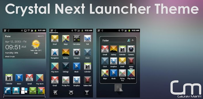 Crystal Next Launcher Theme v1.0 apk download