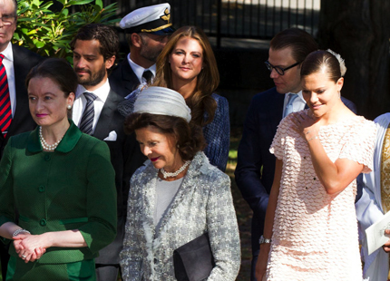 Swedish Royal Family  attended a memorial service for Princess Lilian at the English Church in Stockholm