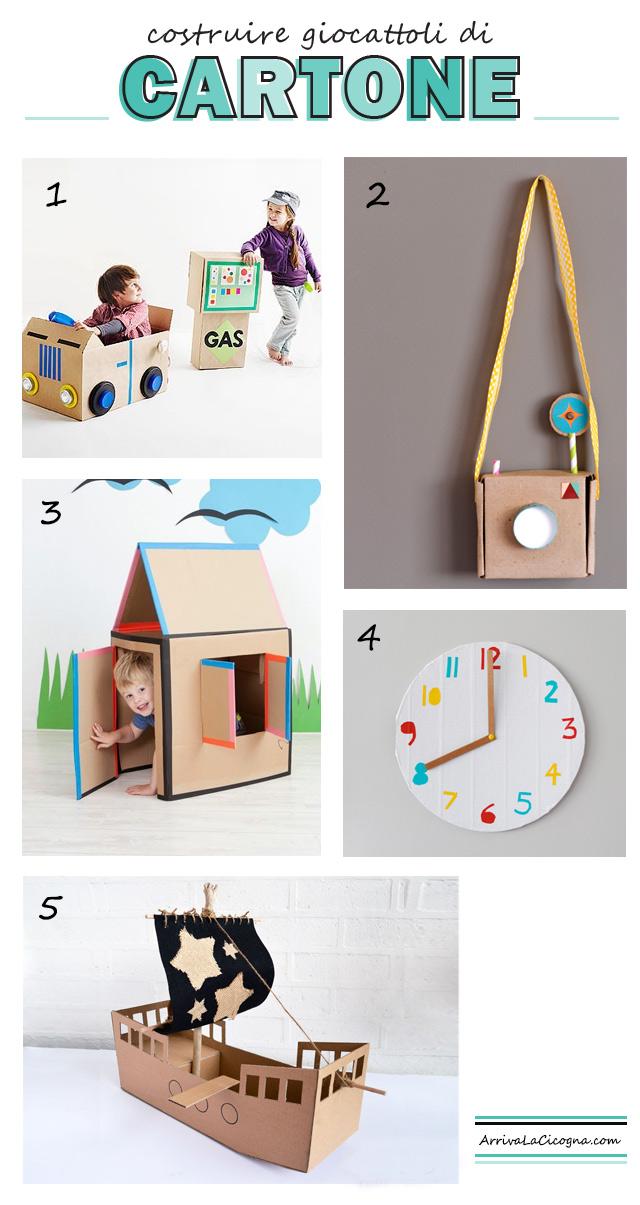 Arriva la cicogna costruire giochi di cartone idee divertenti per giornate piovose - Casa di cartone ...