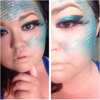 mermaid, mermaid inspired, Halloween, halloween makeup, mermaid halloween makeup, mermaid halloween, mermaid costume, makeup, beauty,