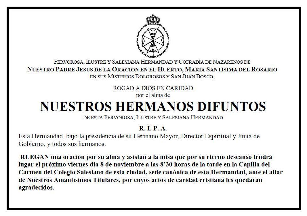 Carta De Invitacion Para Misa De Difuntos | hnczcyw.com