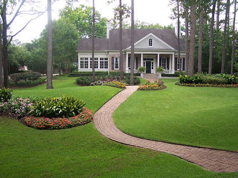 New home designs latest home garden lawn ideas for Front yard decorating ideas