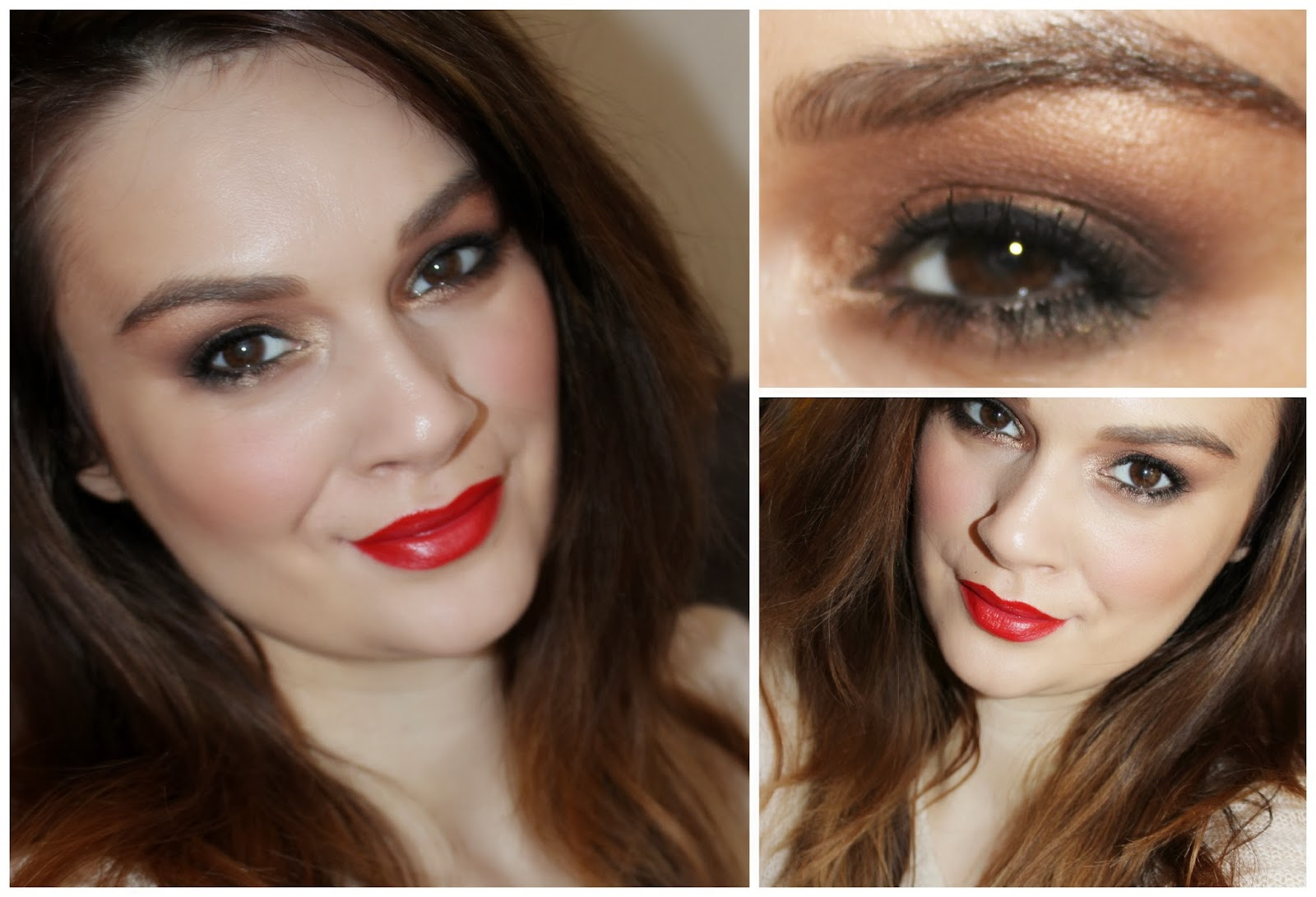 christmas day makeup tutorial step by step