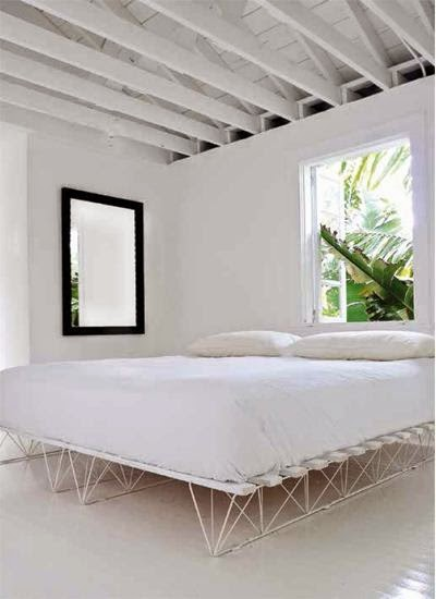 Tropical White Home Design Ideas