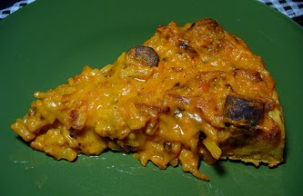 Cheddar Cheesy Hash Brown and Sausage Pizza