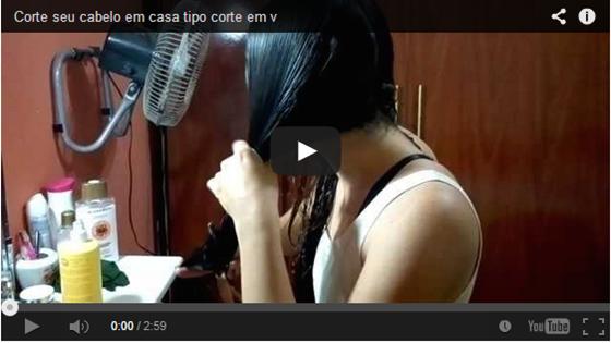 """Corte Degradê com repicado em  """" V """" em Vídeo"""