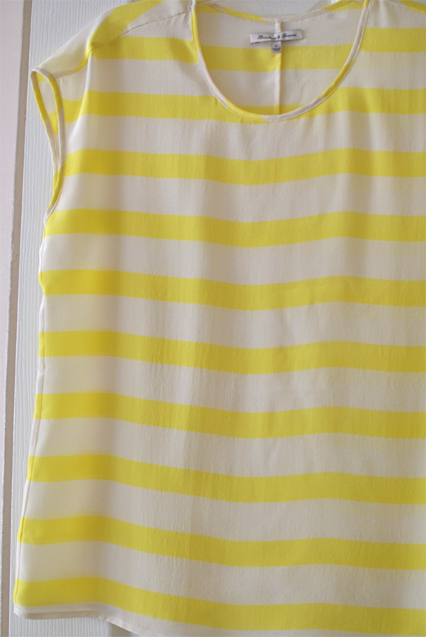 yellow striped tee by madewell
