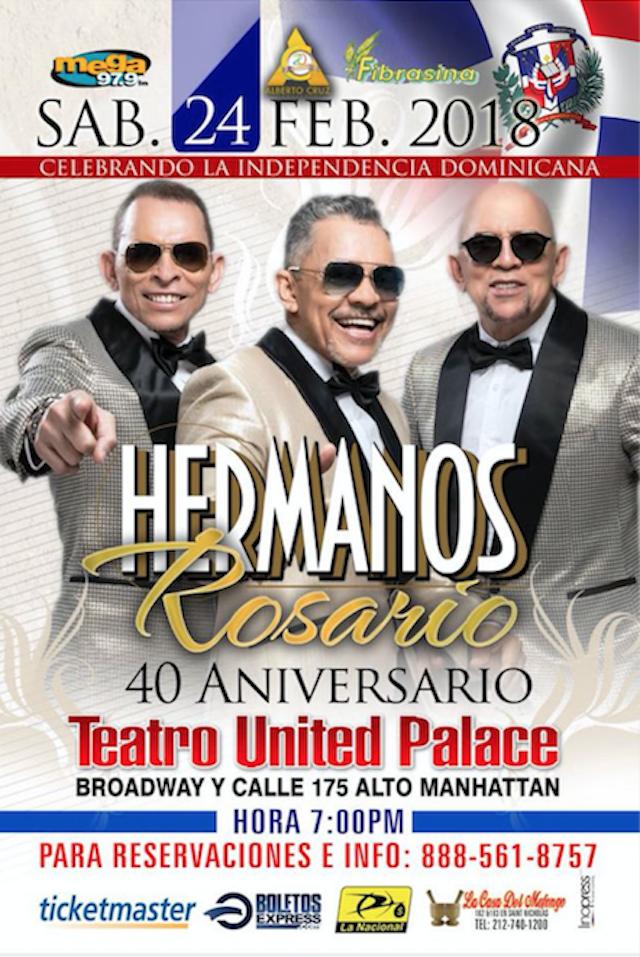 Los 40 de Los Rosario en el United Palace