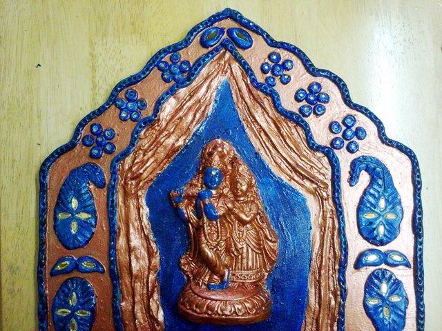 Farah art creations radha krishna mural for Mural radha krishna