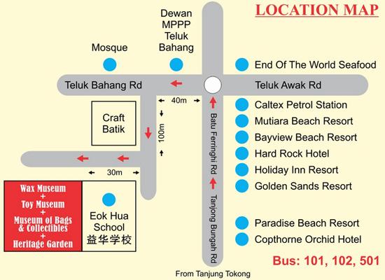 Lokasi Toy Museum Heritage Garden Penang