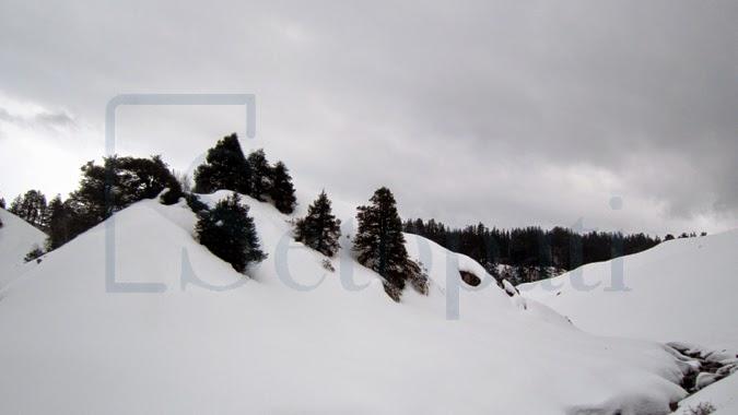 Snowfall in Nepal