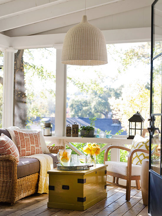 Decorating porches ideas for summer 2013 home interiors Screened in porch decor