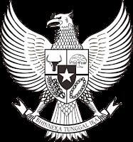 Lambang/ Logo Garuda Pancasila Republik Indonesia Versi Hitam-Putih atau Black and White (BW)