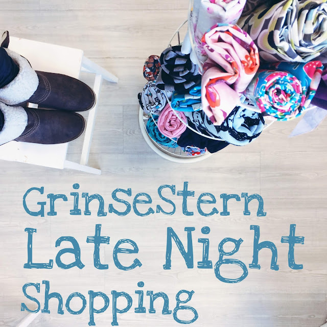 GrinseStern Late Night Shopping, Stoffladen, Stoff kaufen