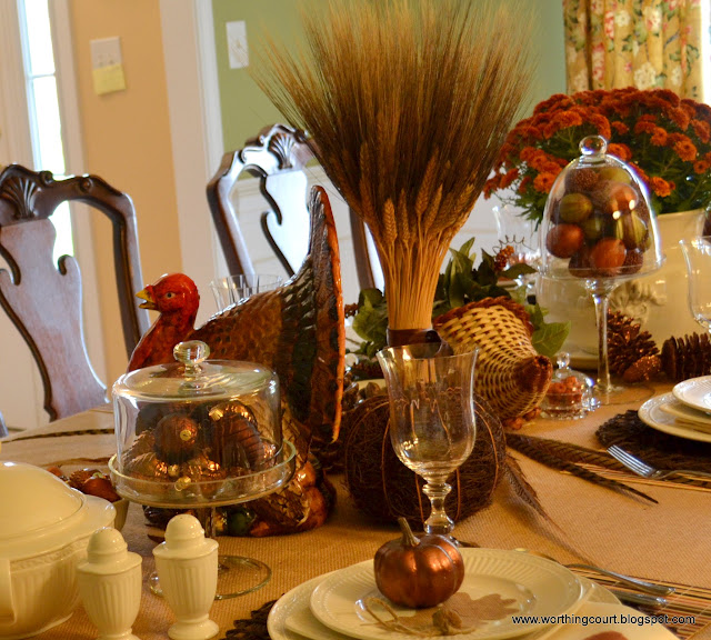 Thanksgiving table via Worthing Court blog
