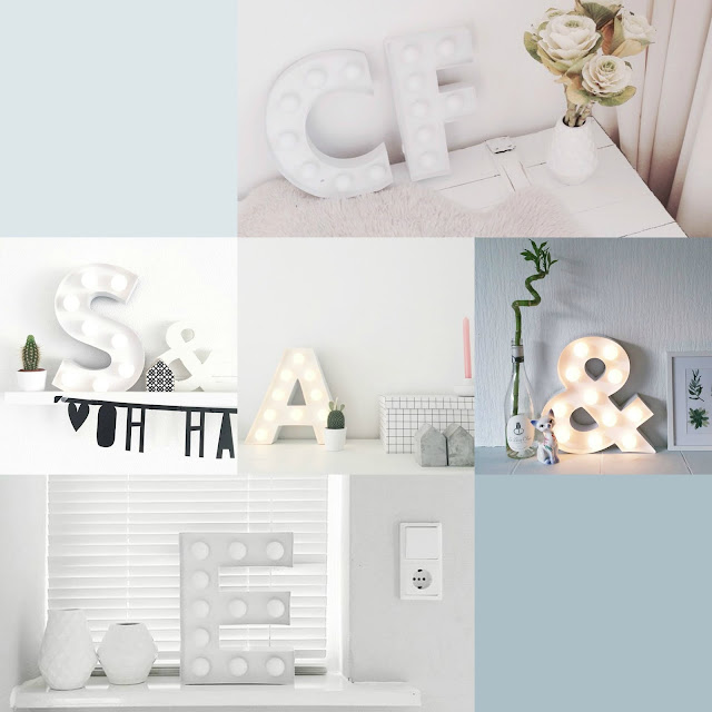 Trendy Interior White Marquee Lights Letterverlichting HEMA