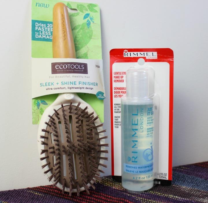 EcoTools Sleek & Shine Finisher Hairbrush Rimmel Gentle Eye Makeup Remover