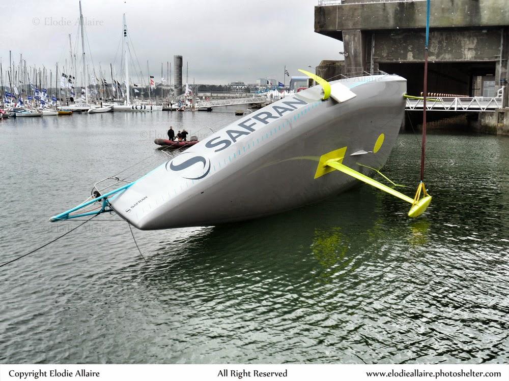 Test de retournement du tout nouveau Safran à Lorient.