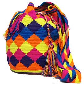 Multicolor Complex Rhombus Wayuu Pattern Bag